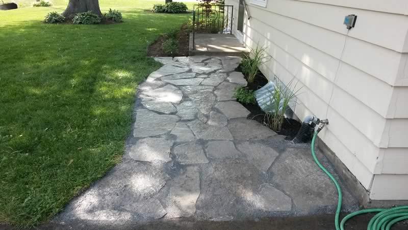 landscape porfolio - stone sidewalk