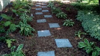 landscaping portfolio walkway - Creative Touch Landscape Services